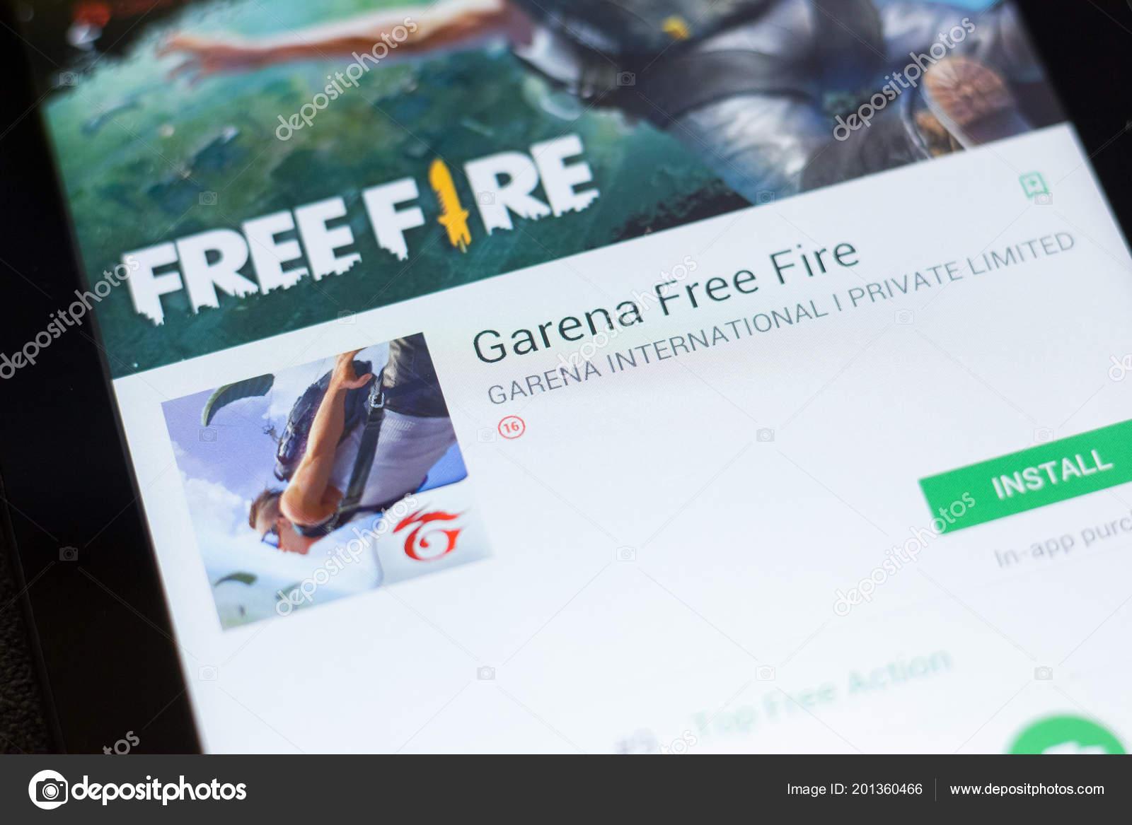 Ryazan Russia June 2018 Garena Free Fire Mobile App Display