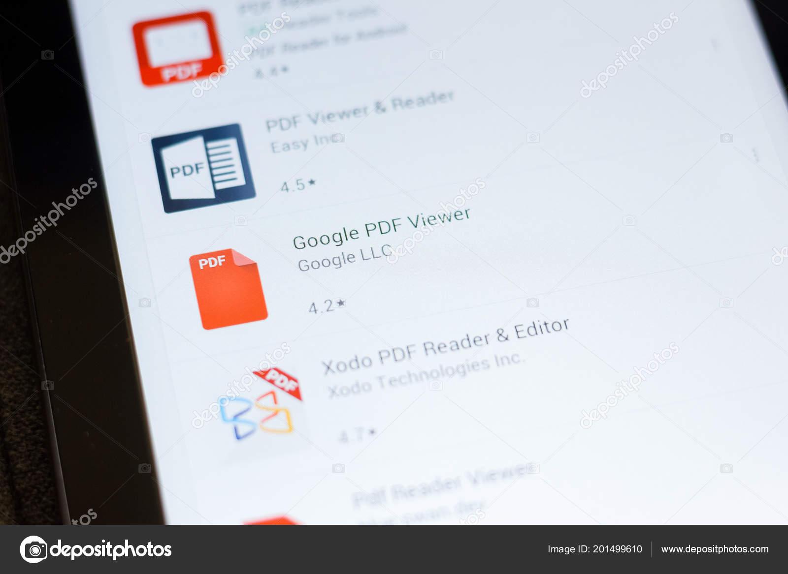 Ryazan Russia June 2018 Google Pdf Viewer Icon List Mobile