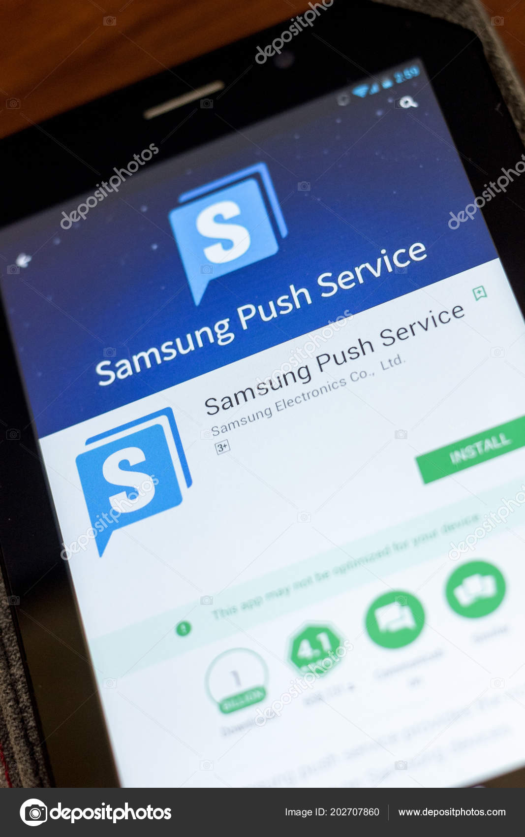 what is the samsung push service