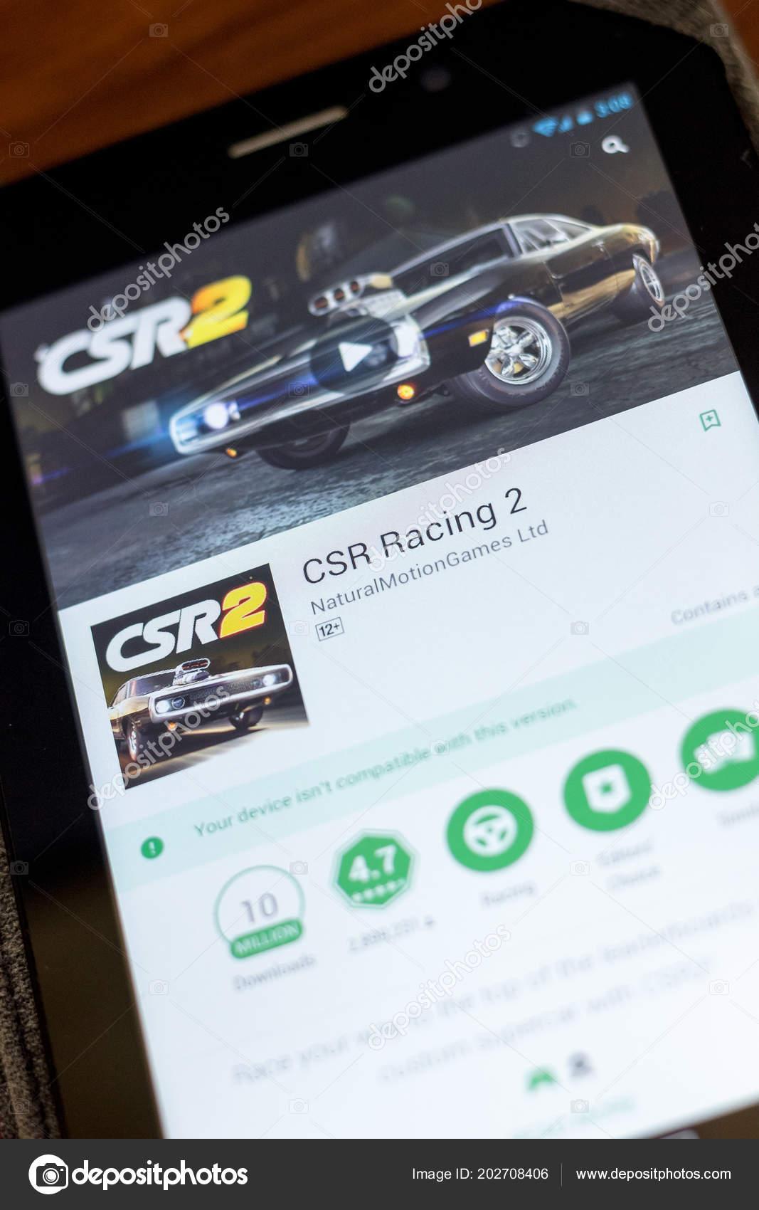 Ryazan Rússia Julho 2018 Ícone Csr Racing Lista Aplicativos