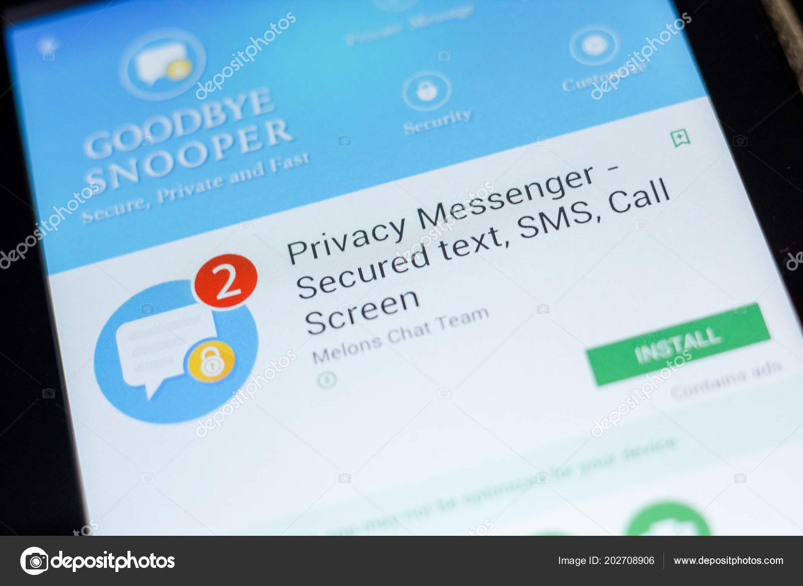 Ryazan Russia July 2018 Privacy Messenger Secured Text Sms