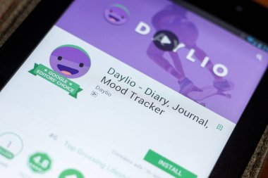 Ryazan, Russia - July 03, 2018: Daylio - Diary, Journal, Mood Tracker icon in the list of mobile apps