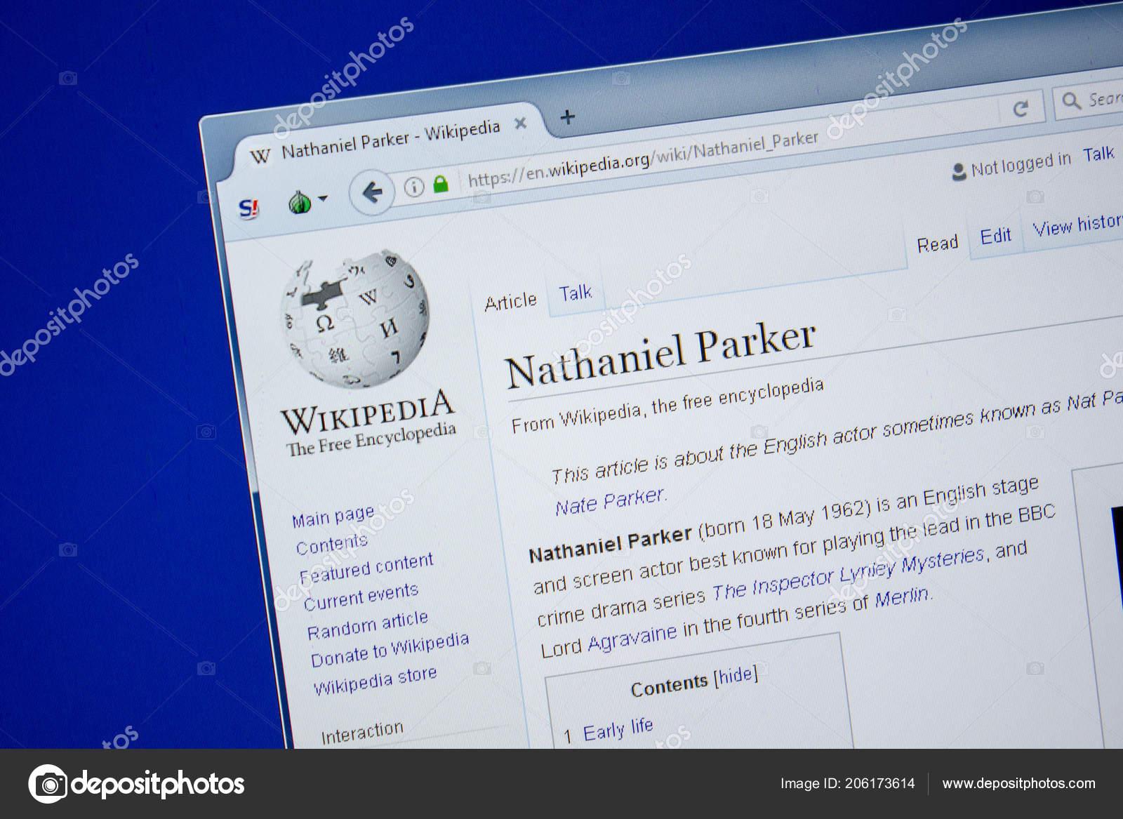 Ryazan Russia July 2018 Page Wikipedia Nathaniel Parker – Stock