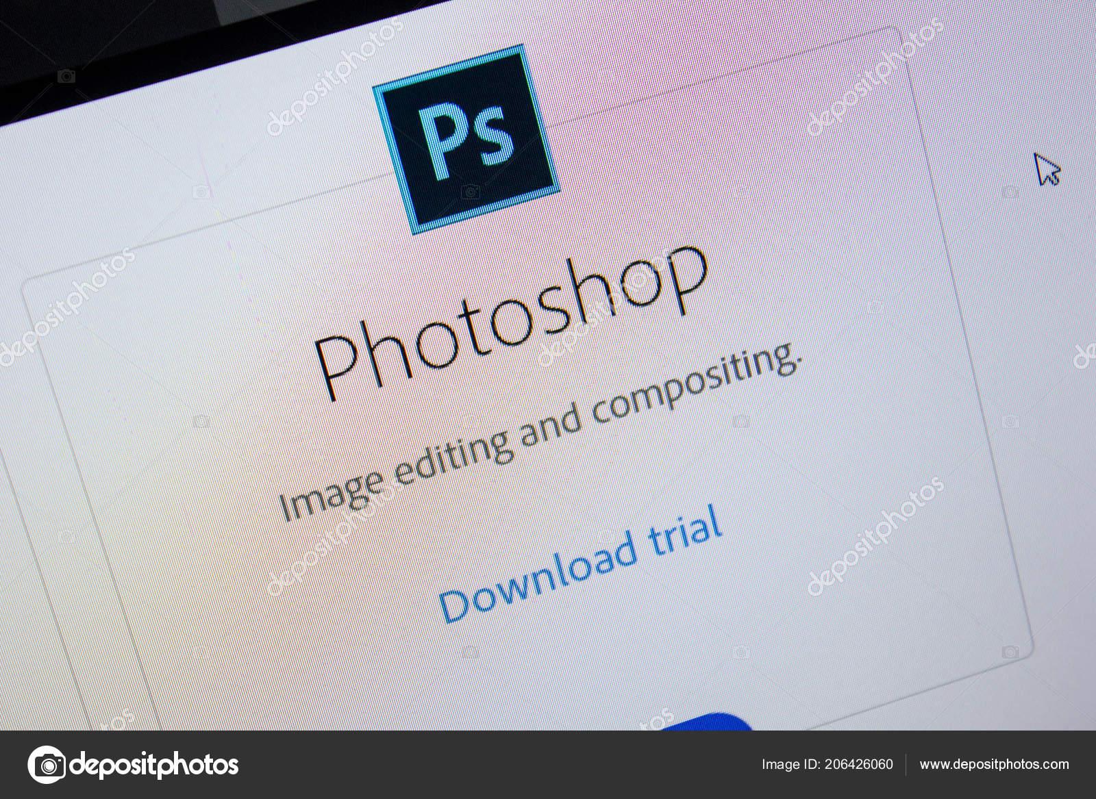 Ryazan Russia July 2018 Adobe Photoshop Software Logo