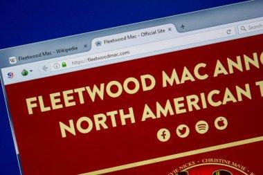 Ryazan, Russia - July 09, 2018: FleetwoodMac.com website on the display of PC