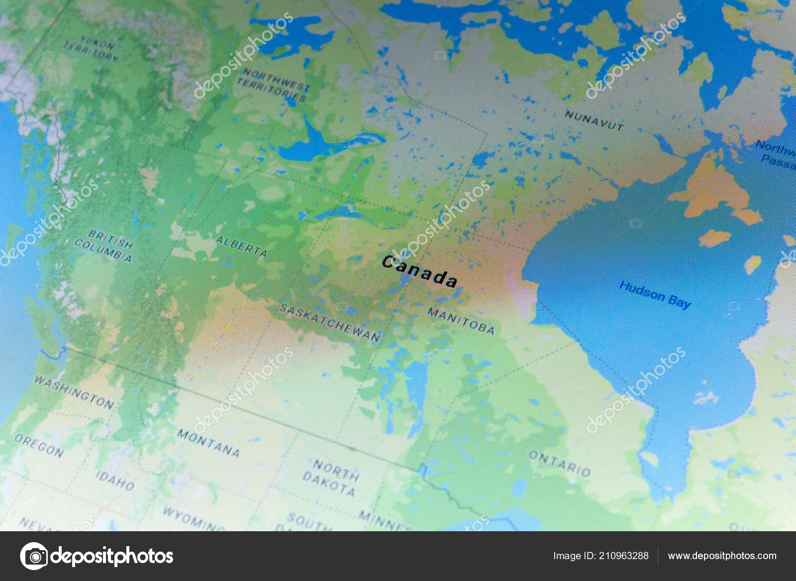Ryazan Russia July 2018 Country Canada Google Maps Service – Stock on