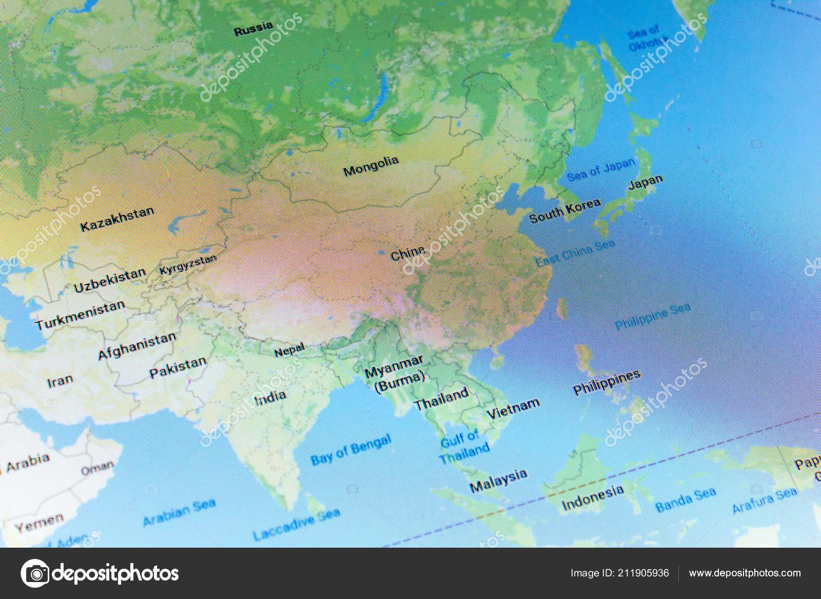 Ryazan Russia July 2018 Country China Google Maps Service – Stock ...