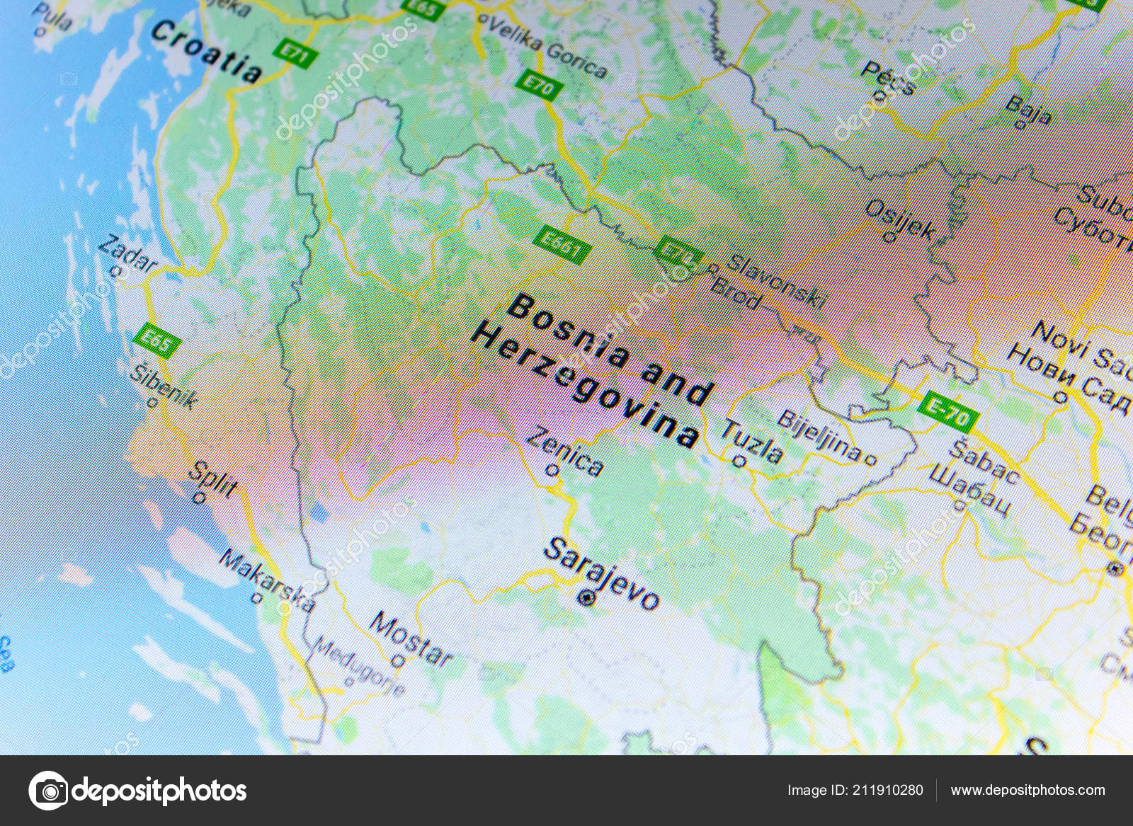 Ryazan Russia July 2018 Country Bosnia Herzegovina Google Maps ...