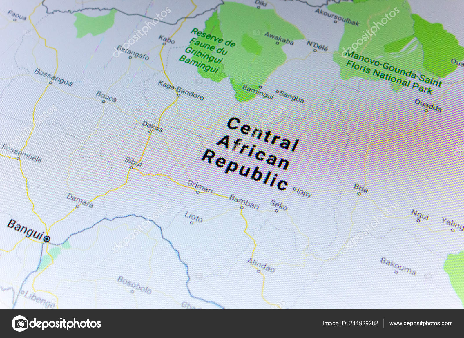Google Map Of Russia.Ryazan Russia July 2018 Country Central African Republic Google Maps