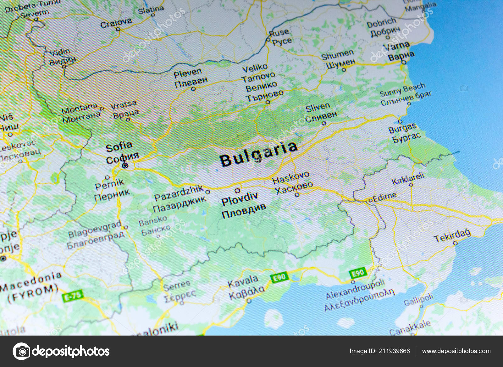 Ryazan Russia July 2018 Country Bulgaria Google Maps Service