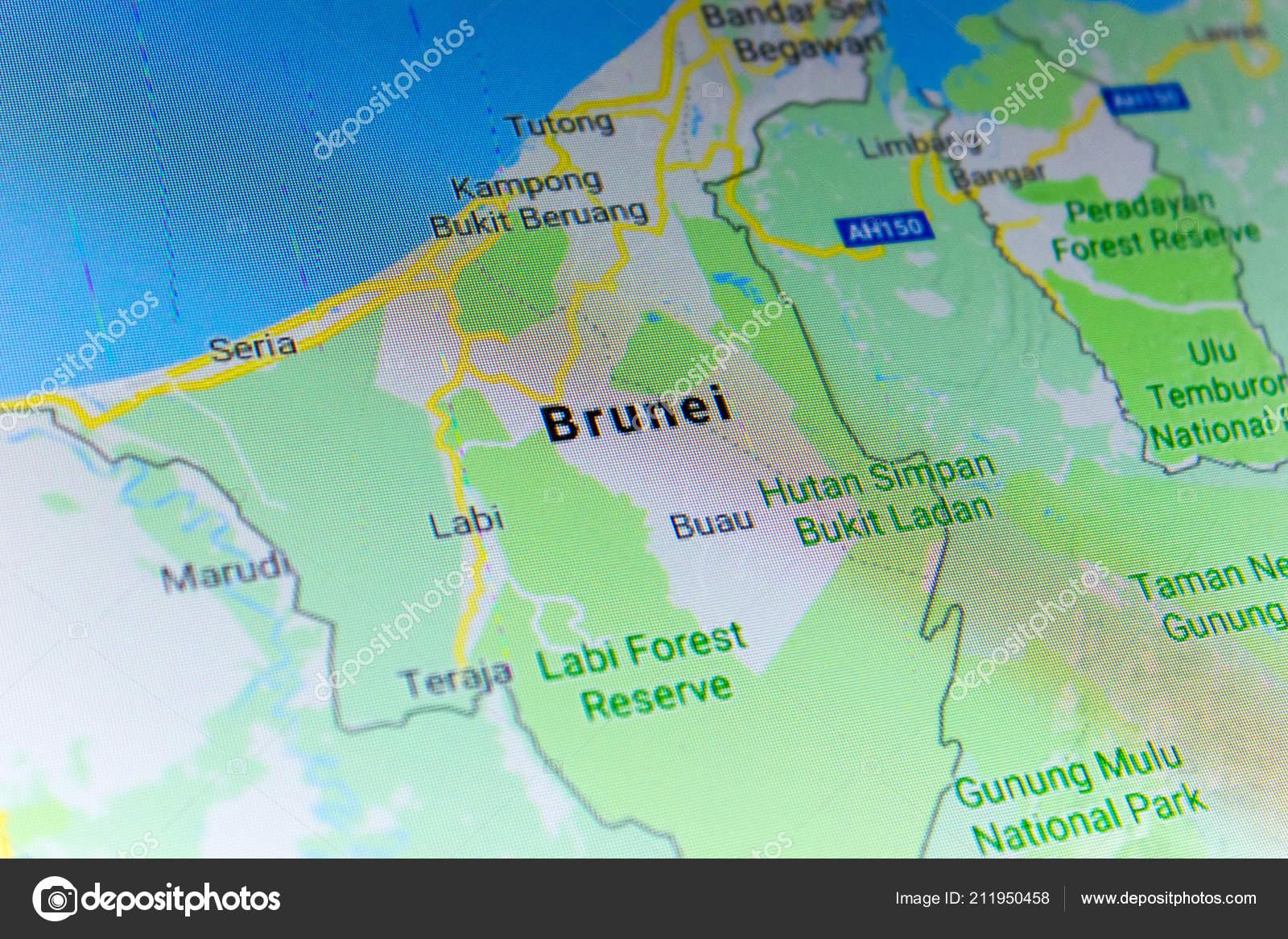 Google Map Of Russia.Ryazan Russia July 2018 Country Brunei Google Maps Service Stock