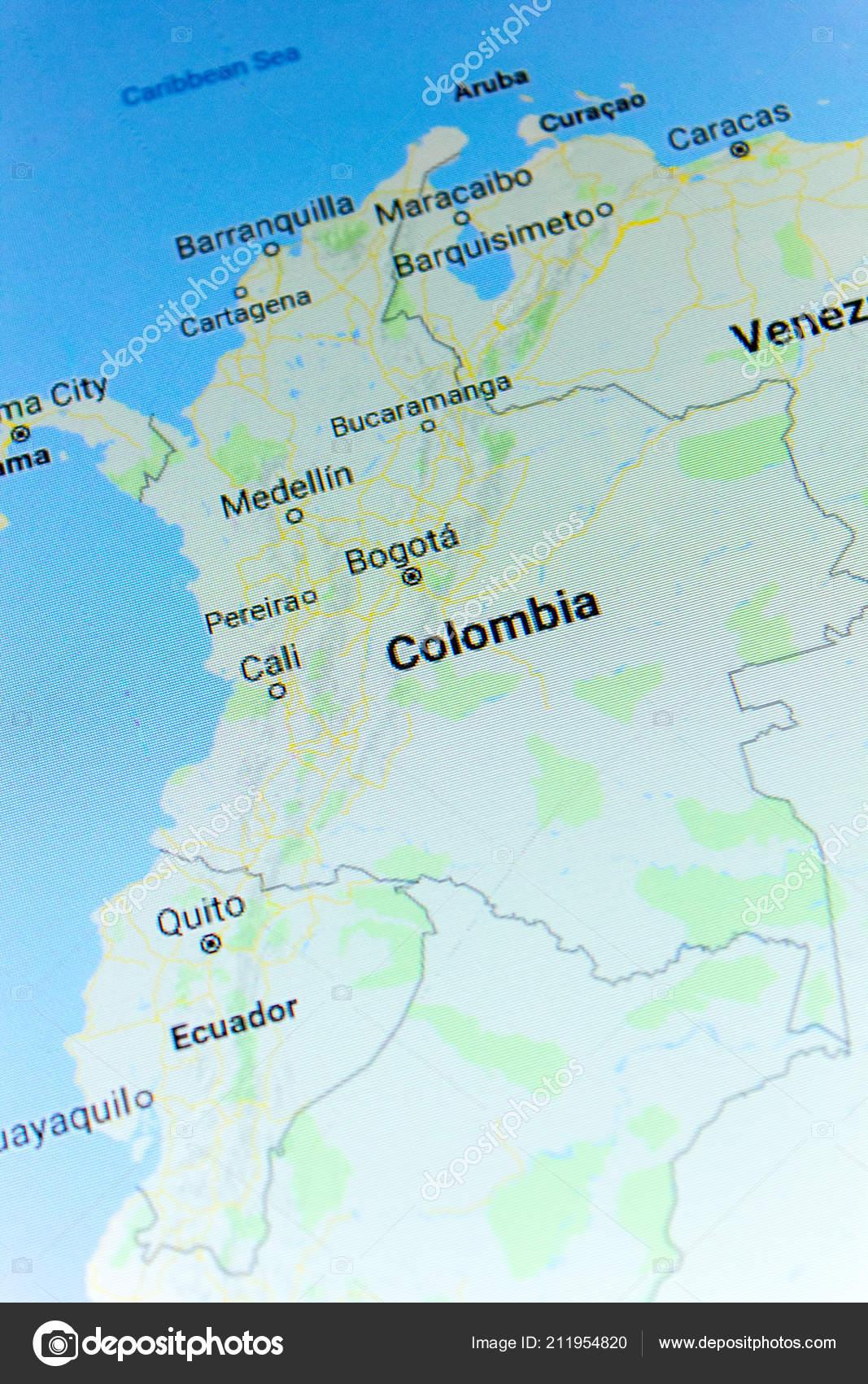 Ryazan Russia July 2018 Country Colombia Google Maps Service – Stock ...