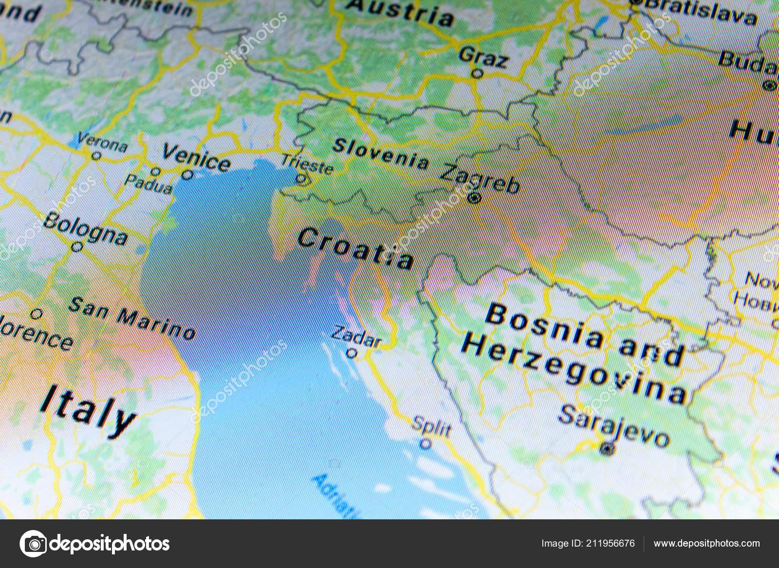 Ryazan Russia July 2018 Country Croatia Google Maps Service – Stock ...