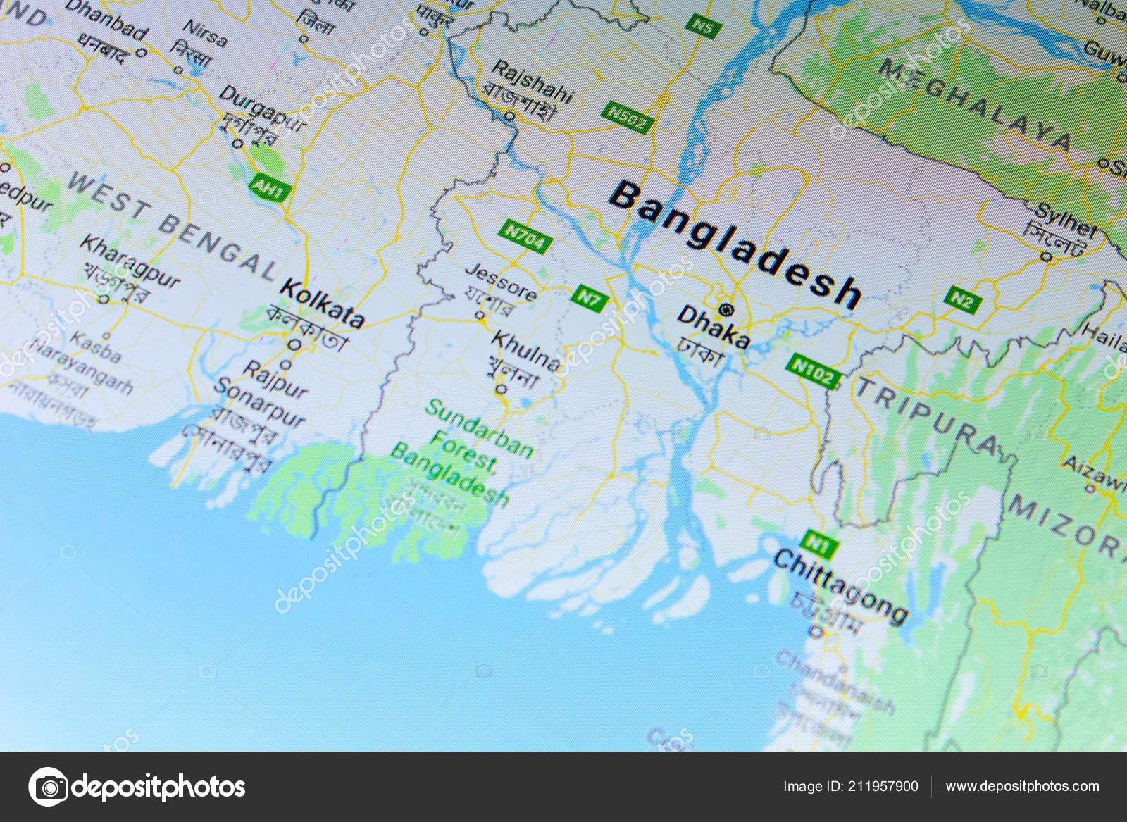 Ryazan Russia July 2018 Country Bangladesh Google Maps Service