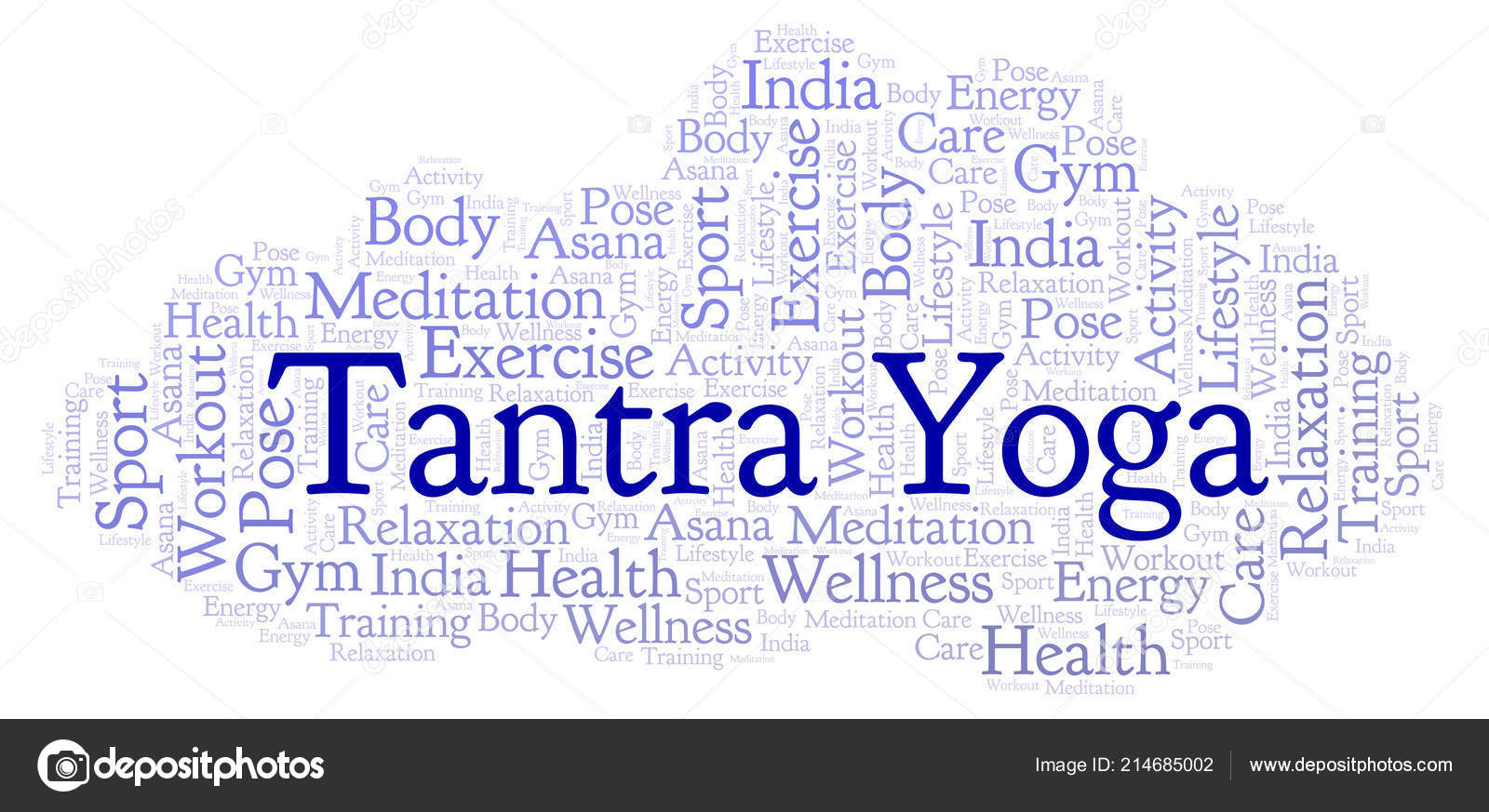 Tantra Yoga Word Cloud Wordcloud Made Text Only — Stock Photo