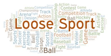 Loose Sport word cloud. Made with text only.