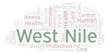 West Nile word cloud, made with text only