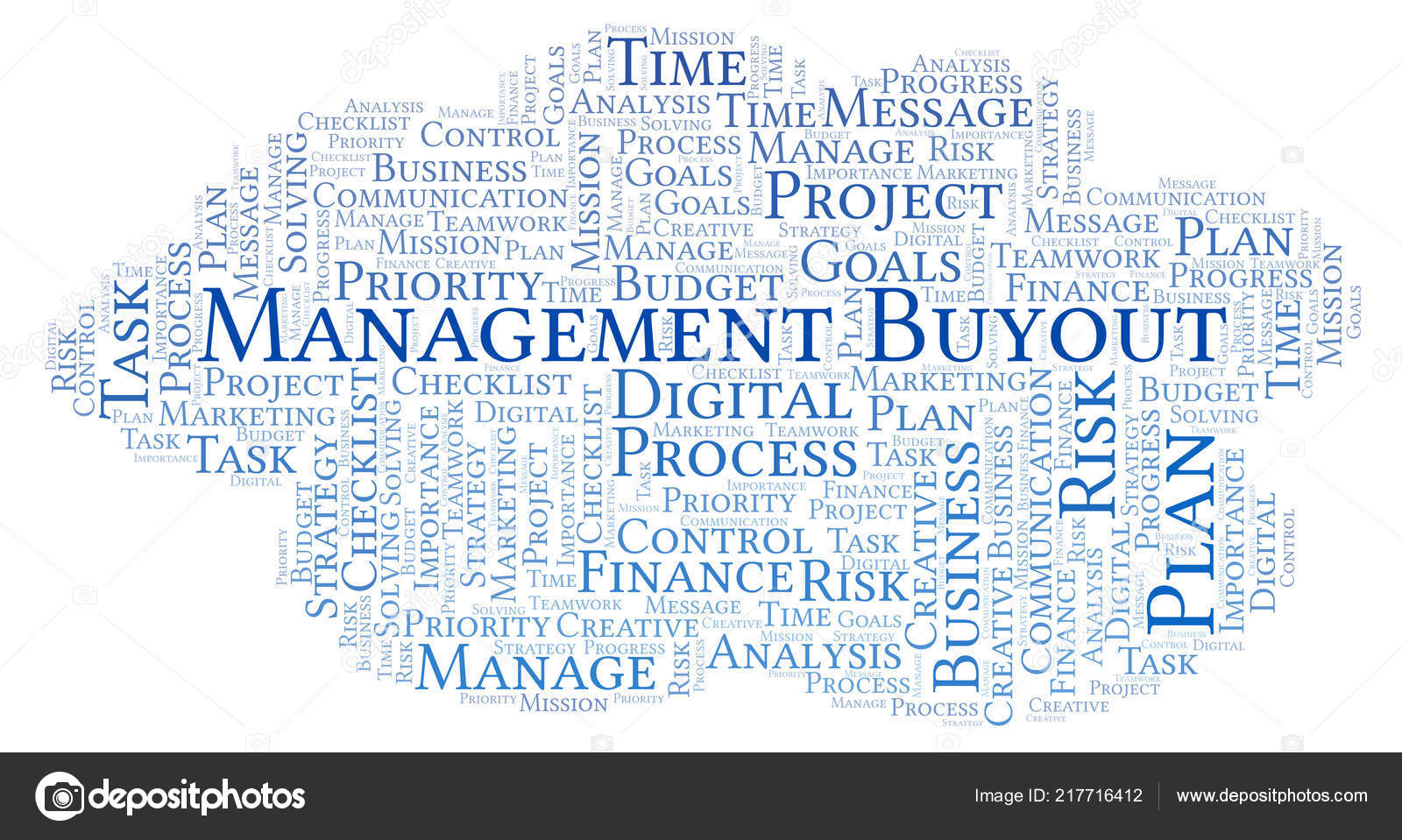 Management Buyout Word Cloud Made Text Only  Stock Photo  Management Buyout Word Cloud Made Text Only  Stock Photo