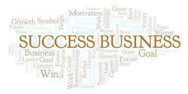 Success Business word cloud. Wordcloud made with text only.