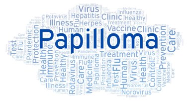 Papilloma word cloud, made with text only