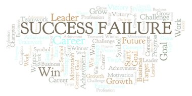 Success Failure word cloud. Wordcloud made with text only.
