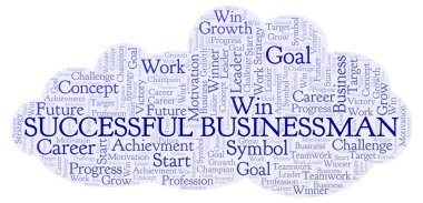 Successful Businessman word cloud. Wordcloud made with text only.