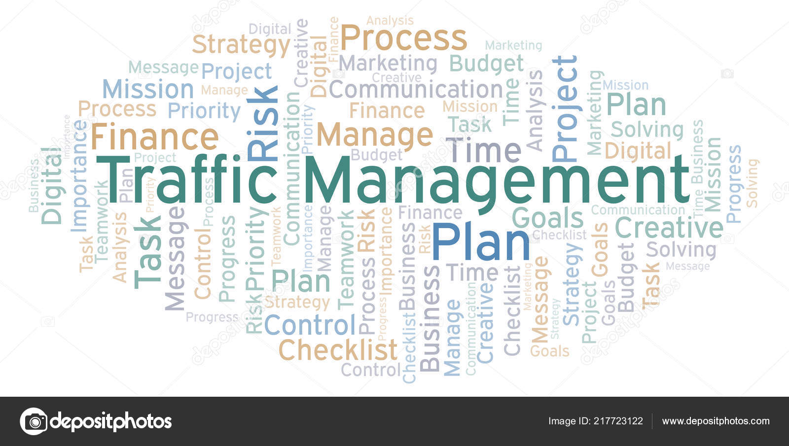 Traffic Management Word Cloud Made Text Only — Stock Photo