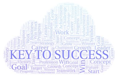 Key To Success word cloud. Wordcloud made with text only.