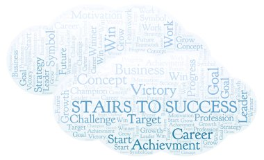 Stairs To Success word cloud. Wordcloud made with text only.