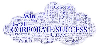 Corporate Success word cloud. Wordcloud made with text only.