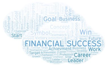 Financial Success word cloud. Wordcloud made with text only.