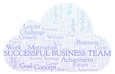 Successful Business Team word cloud. Wordcloud made with text only.