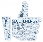 Eco Energy word cloud. Wordcloud made with text only.