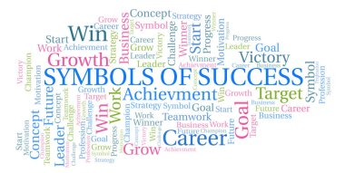 Symbols Of Success word cloud. Wordcloud made with text only.