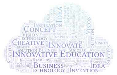 Innovative Education word cloud, made with text only