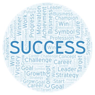 Success word cloud. Wordcloud made with text only.