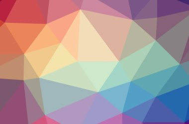 Illustration of abstract low poly blue horizontal background