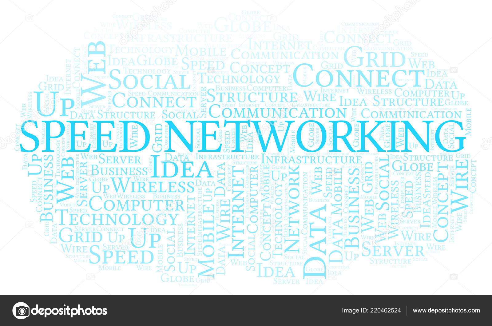 Speed Networking Word Cloud Word Cloud Made Text Only — Stock Photo