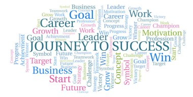 Journey To Success word cloud. Wordcloud made with text only.