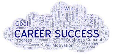 Career Success word cloud. Wordcloud made with text only.