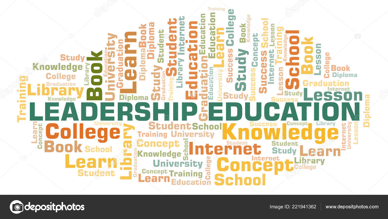 Leadership Education Word Cloud Wordcloud Made Text Only