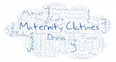 Fotografie Maternity Clothes word cloud. Wordcloud made with text only.
