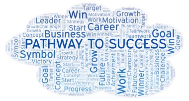 Pathway To Success word cloud. Wordcloud made with text only.