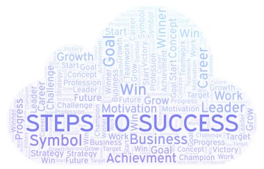Steps To Success word cloud. Wordcloud made with text only.