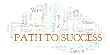 Path To Success word cloud. Wordcloud made with text only.