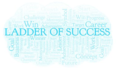 Ladder Of Success word cloud. Wordcloud made with text only.