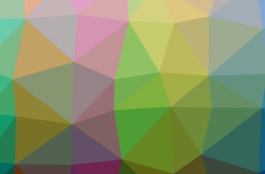 Illustration of abstract low poly green horizontal background