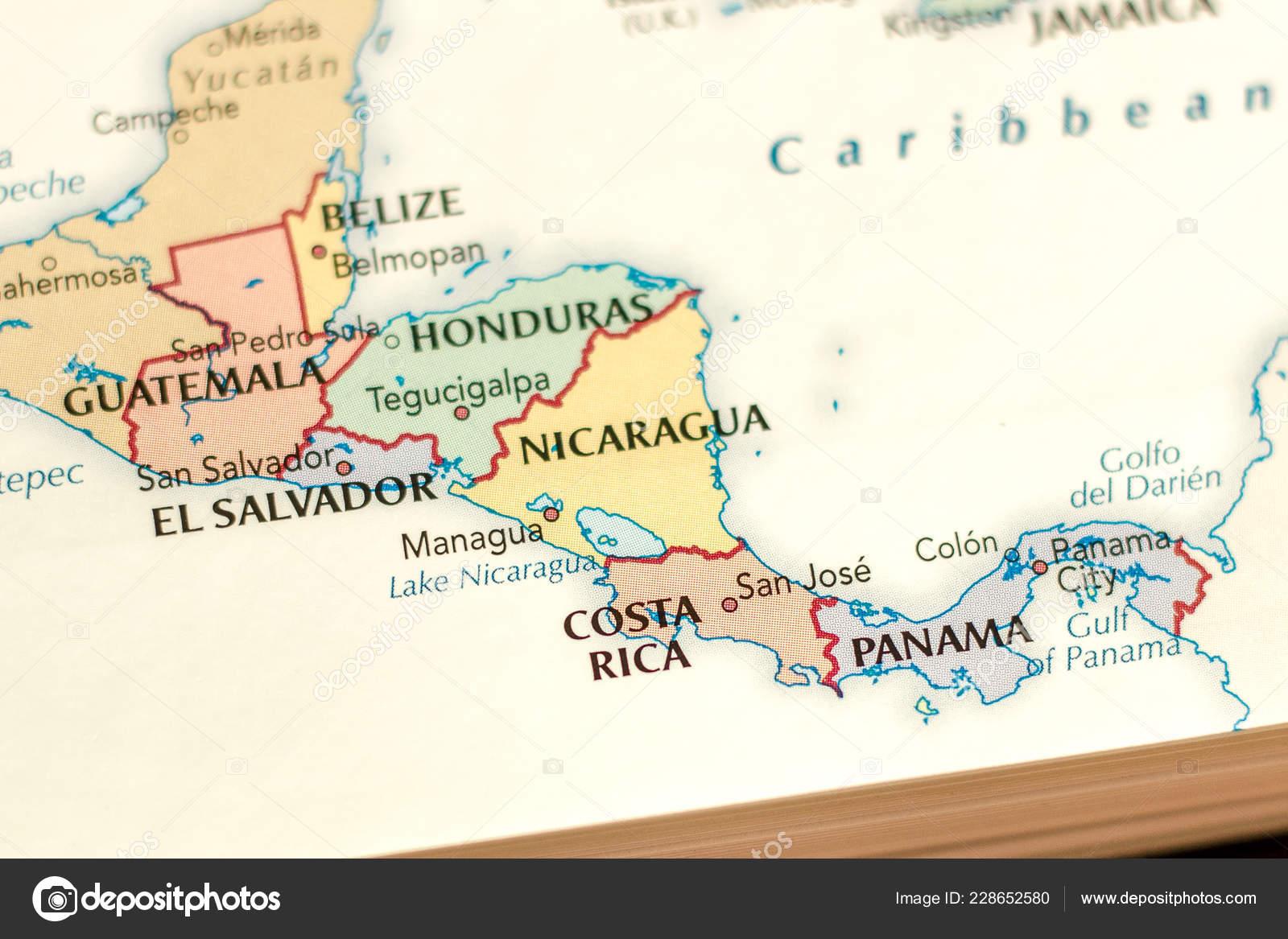 Ivanovsk Russia November 2018 Costa Rica Map World – Stock ...