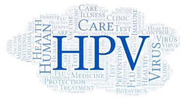HPV word cloud, made with text only