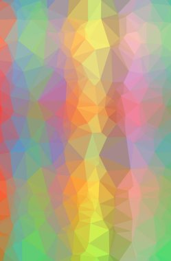 Illustration of abstract low poly orange vertical background